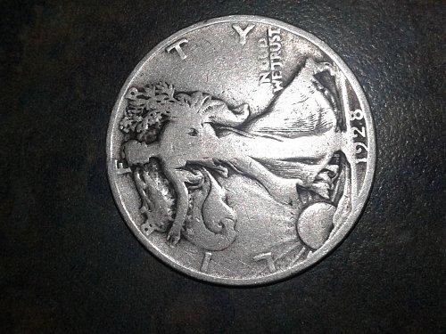 1928-s walking silver half dollar #21
