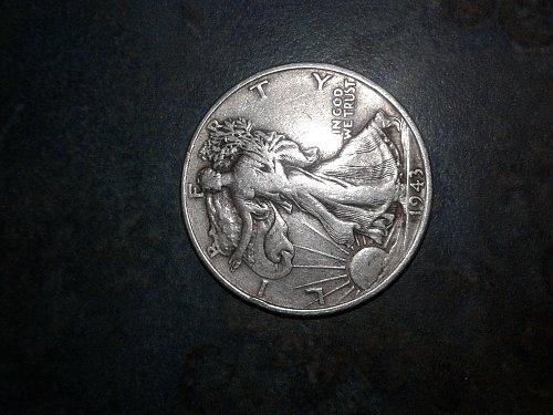 1943-p silver half dollar #22
