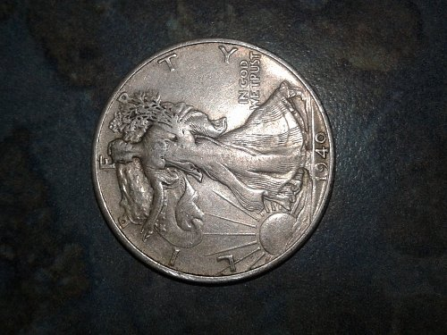 1940-s walking silver half dollar #313