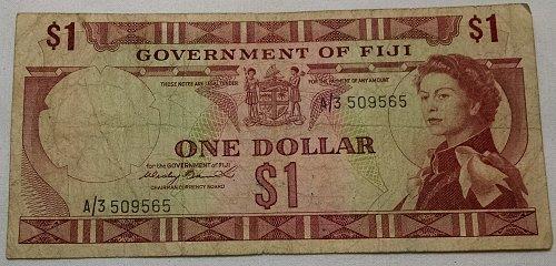 Fiji One Dollar Banknote
