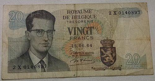 Royaume de Belgique 20 Francs