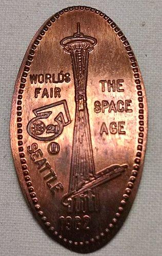 1962 World's Fair Elongated Penny