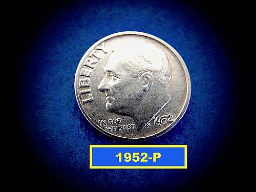 1952-P Roosevelt Dime  ✬   (#3695)b