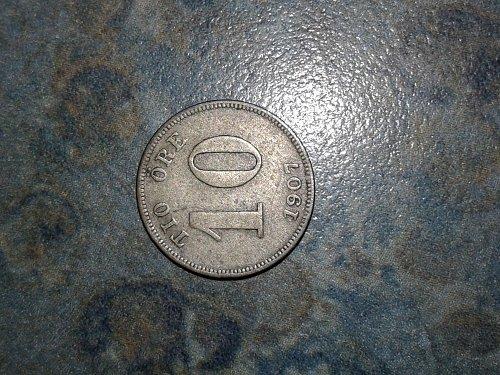 1907 Sweden coin