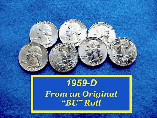 "Dazzling BU 1959-D Washington Quarter ☆ ""MS-64"" ☆    (#2835c)a"