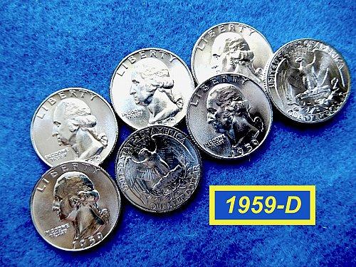 "Dazzling BU 1959-D Washington Quarter ☆ ""MS-64"" ☆    (#2835c)a"