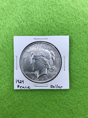 1924 Peace Dollar - 90% Silver US Coins - Free Shipping!