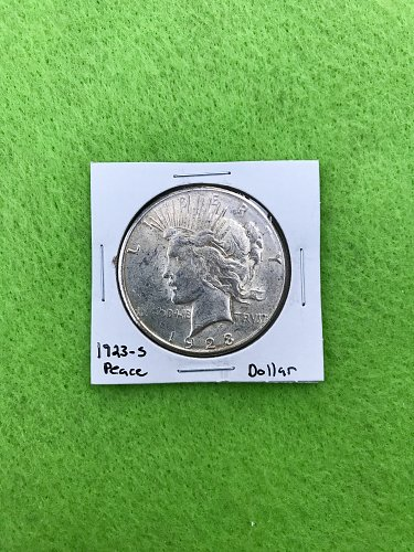 1923-S Peace Dollar - 90% Silver US Coins - Free Shipping!
