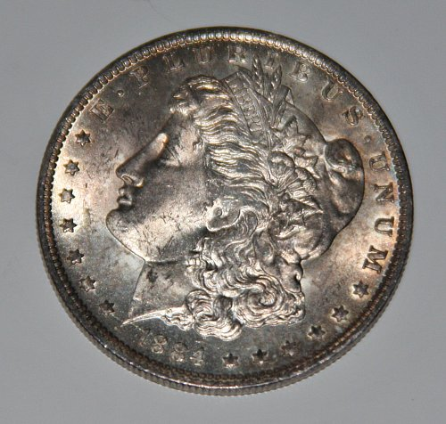 COLLECTIBLE SILVER 1884-O MORGAN DOLLAR.....NICE TONING....MS...MINT...