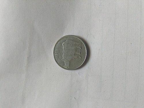 India 1999 25 paisa used coin.. Bombay mint
