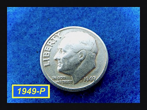 1949-P  Roosevelt  ☆ circulated   ☆ (#3711)a