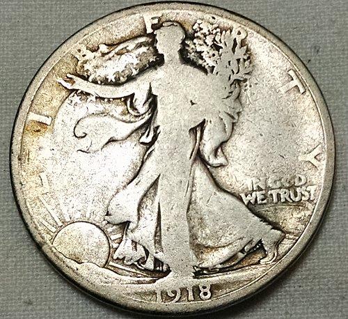 1918 P Walking Liberty Half Dollar