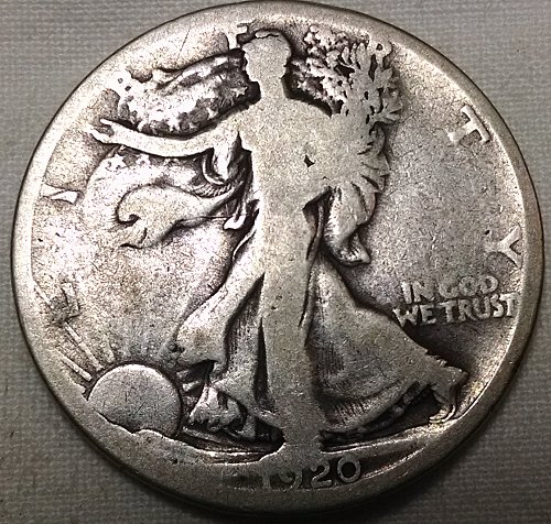 1920 D Walking Liberty Half Dollar