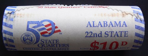 2003 D Alabama State Quarter Mint Roll (Collector's Edition)