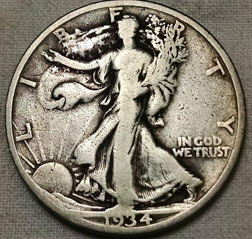 1934 D Walking Liberty Half Dollar