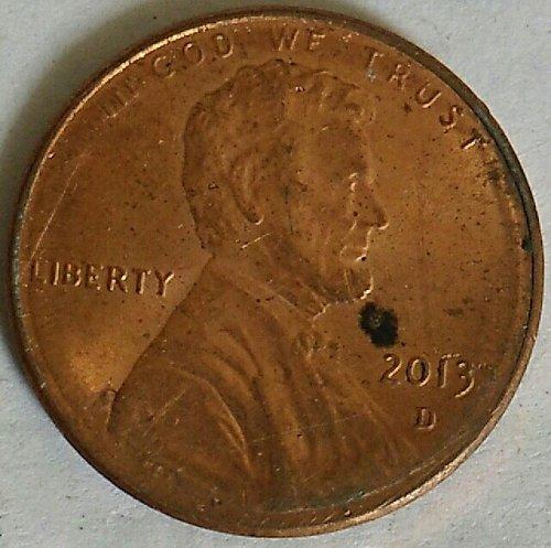2013..D....Fine Lincoln cent