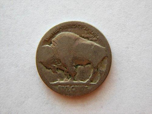 Vintage Buffalo Nickel with *Lamination error* on reverse
