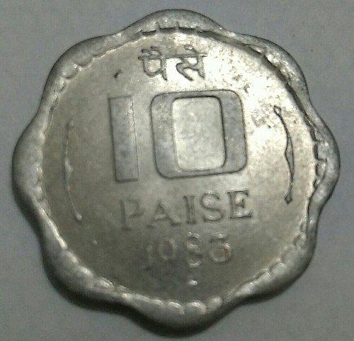 1983....India..Bombay mint 10 paisa