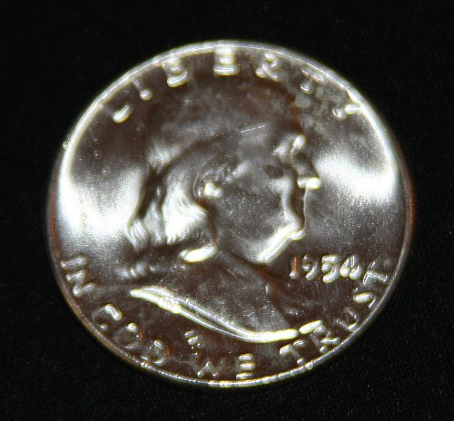 "COLLECTIBLE SILVER 1954-P FRANKLIN HALF DOLLAR ""FBL"" COIN...MS+......4A..."