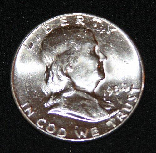 "COLLECTIBLE SILVER 1954-P FRANKLIN HALF DOLLAR ""FBL"" COIN...MS+....3A...."