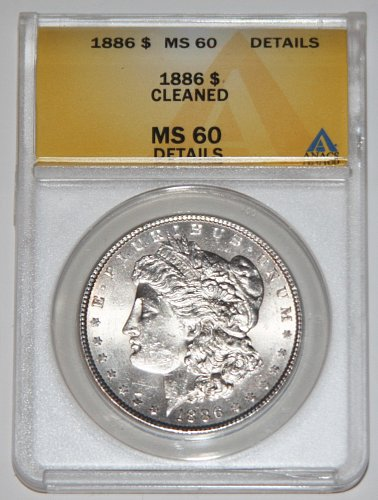 1886 MORGAN SILVER DOLLAR MS60 ANACS.....