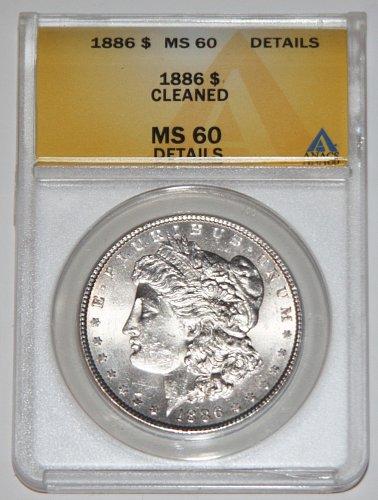 1886 MORGAN SILVER DOLLAR MS60 ANACS.....