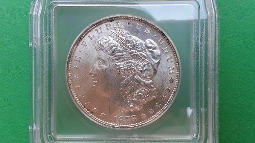 1878 8TF MS63 Morgan Silver Dollar Vam14.2-Polished Ear