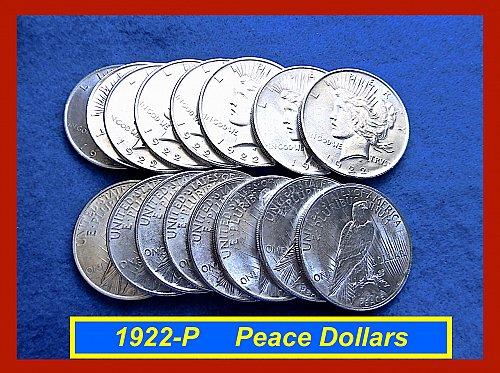 1922-P  PEACE Dollars ☆ Lustrous & BU ☆  (#5430)b
