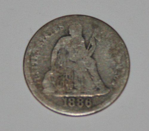 COLLECTIBLE 1886 10C U.S. SEATED LIBERTY DIME.....
