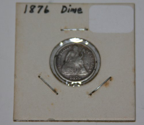 COLLECTIBLE U.S. 1876 10C SEATED LIBERTY DIME....