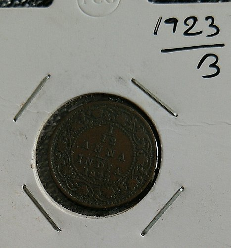 British India 1/12 Anna 1923 Bombay  mint circulated coin