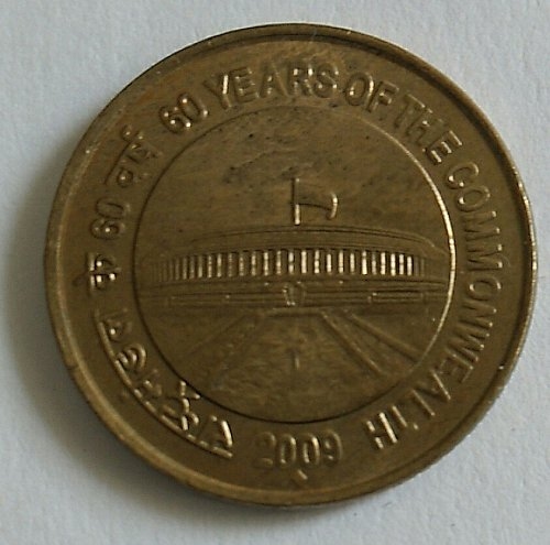 India 5 Rupee circulated coin..Commonwealth