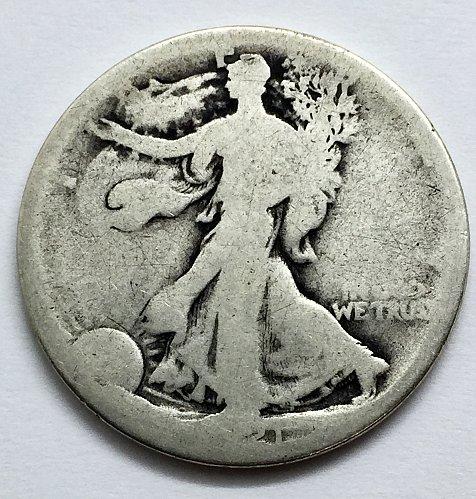 1921 Walking Liberty Half Dollar - Partial Date