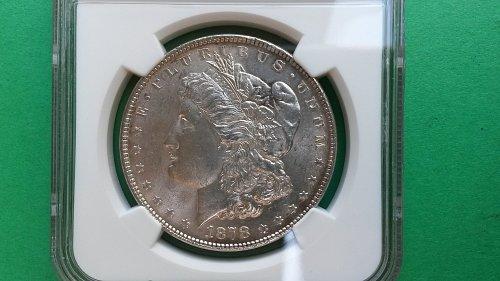1878 7/8TF MS62 Morgan Silver Dollar Vam38 7/5 variety