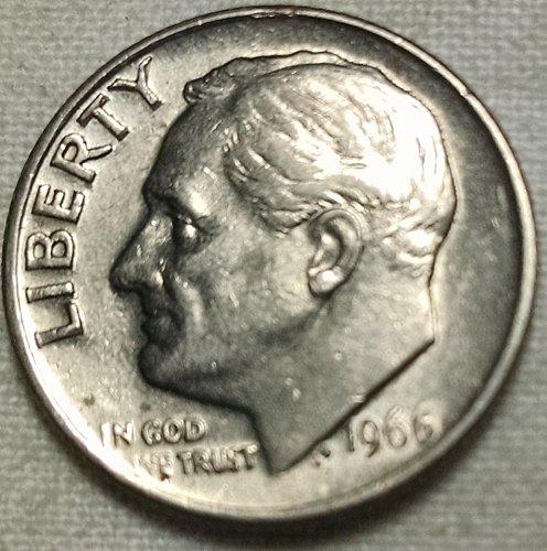 1966 P Roosevelt Dime