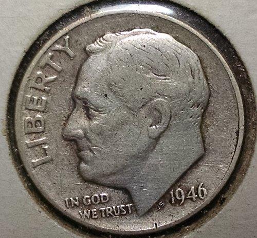 1946 P Roosevelt Dimes