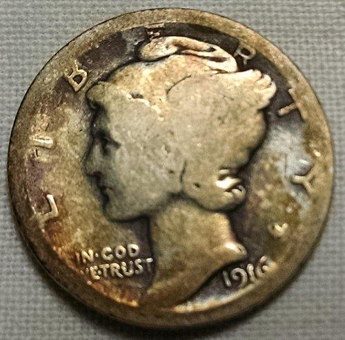 1916 P Mercury Dime
