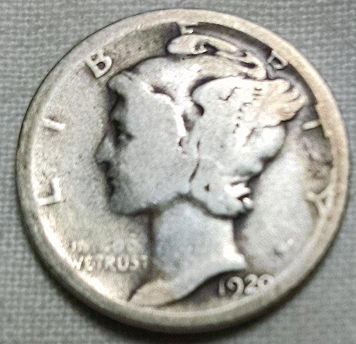 1920 D Mercury Dime
