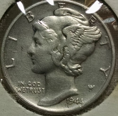 1944 P Mercury Dime