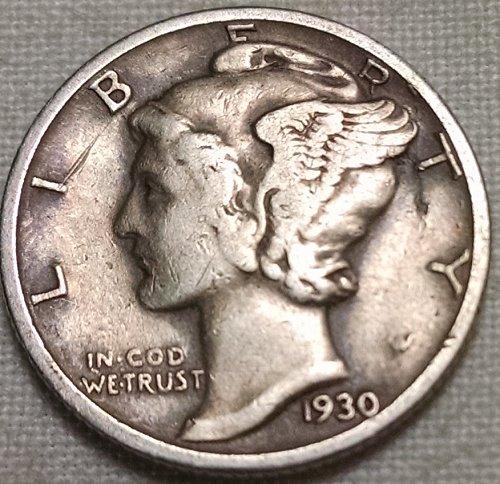 1930 P Mercury Dime