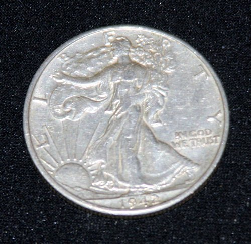 COLLECTIBLE 1942-P SILVER WALKING LIBERTY 50C HALF DOLLAR....EF.....