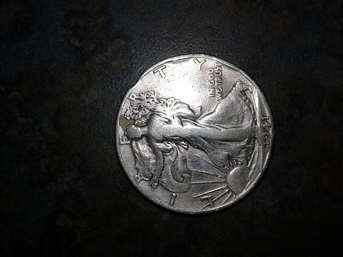 1941-s walking silver half dollar error clipped