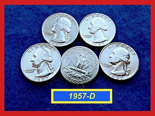"1957-D  SILVER Quarter ✬ ""VF-XF"" ✬ (#2810)a"