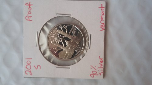 2001 S Silver Proof Vermont State Quarter