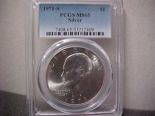 1971-S $1 Silver IKE Dollar PCGS MS65