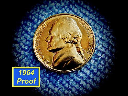 """1964  Proof Nickel  ✬  """"DCAM""""   ✬  (#6431)a"""