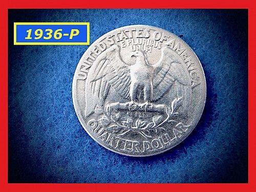 "1936-P Washington Quarter ★ ""F-20"" ––  (#2827)a"