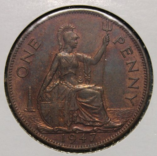 Great Britain 1947 1 Penny