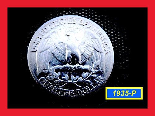 "1935-P Washington Quarter ★ ""F-20"" ––  (#2646)a"