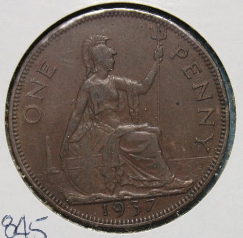 Great Britain 1937 1 Penny